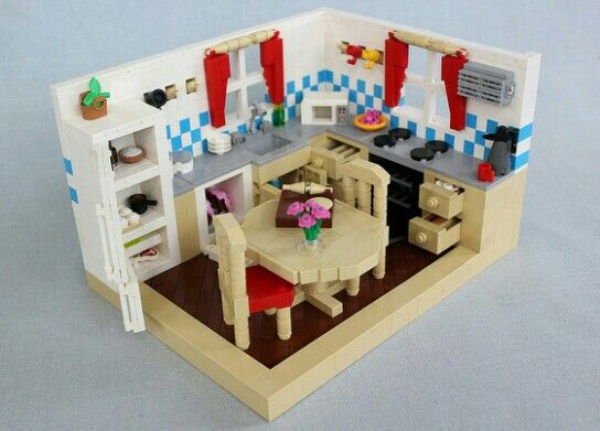 242 Best Lego Interior Kitchen Amp Dining Room Images On