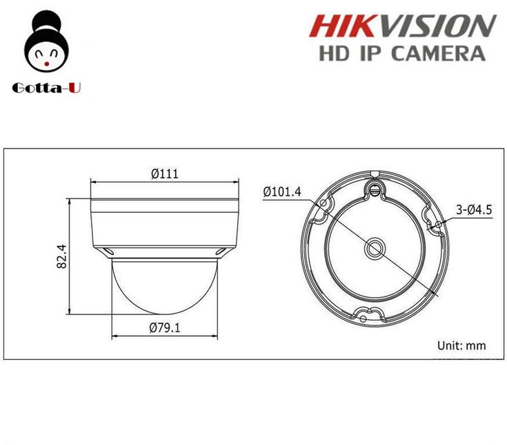 HIKVISION DS2CD3132I HD 3MP 1080P IR Outdoor Waterproof