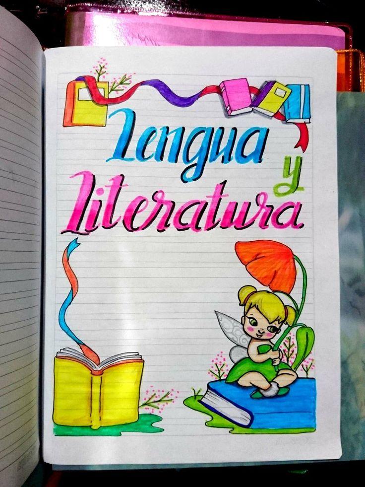 Carátulas, portadas para cuadernos de niñas, materia