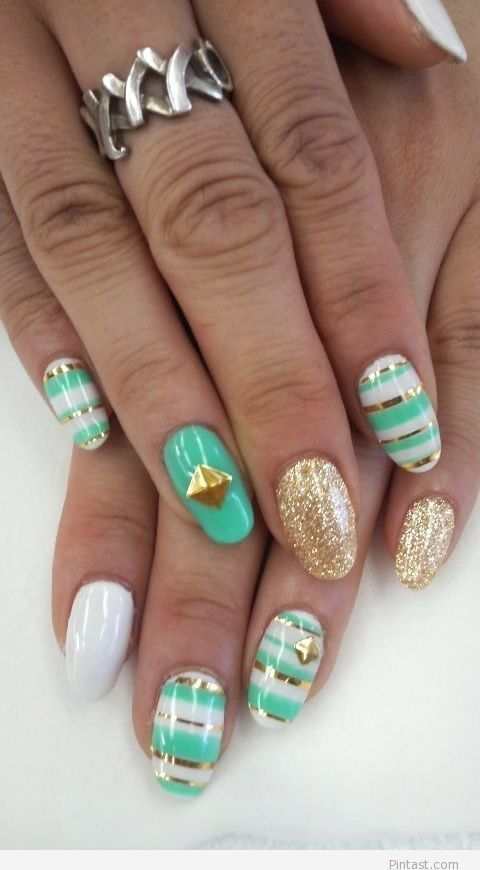 Nail art i like it so much...:*