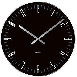Wall clock Slim Index black | Flux Boutique