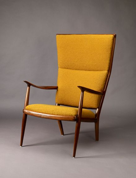 Sam Maloof, Double-Flared Back Chair with Sculptured Arms, 1958.