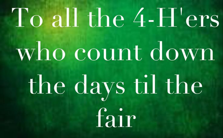 Admit it though, before it ends we're counting down the days until the last day of fair, lol