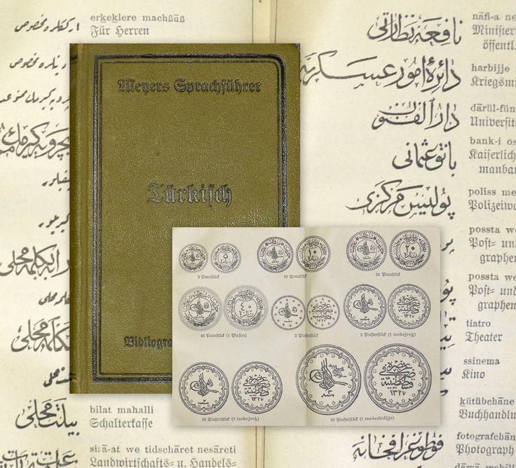 1917 Wörterbuch deutsch-türkisch Münztafel Sprachführer Turkish Turkey Muhieddin