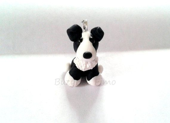 Border collie charm by buzybeez1 on Etsy, £1.20
