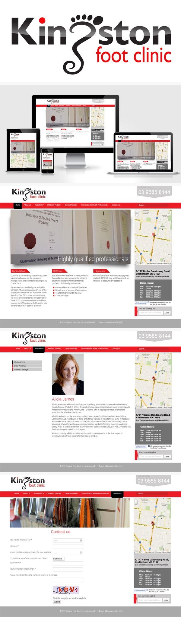 Kingston Foot Clinic on Behance
