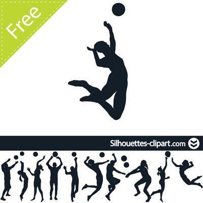 Voleibol Player Pack Silueta