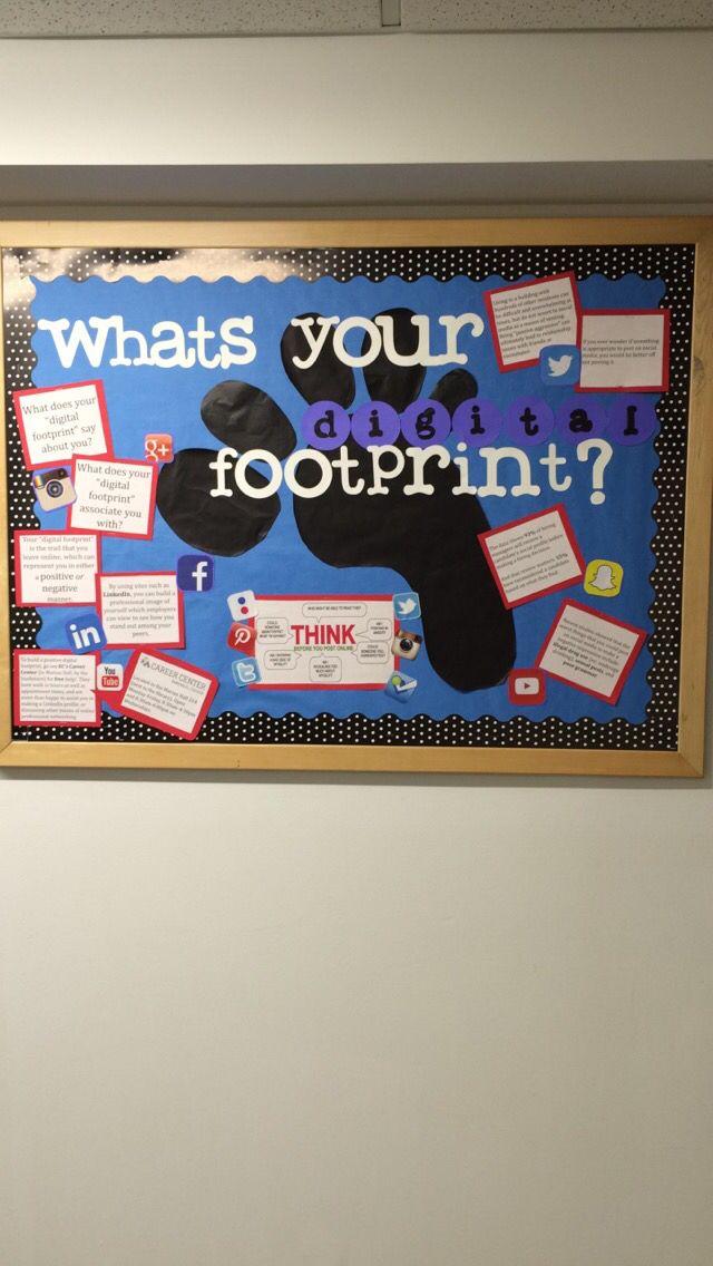Digital footprint bulletin board