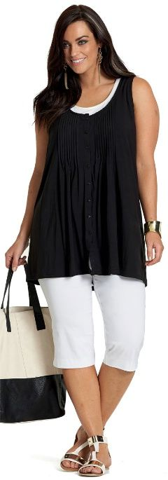 RESORT REPORT SINGLET## - Tops - My Size, Plus Sized Women's Fashion & Clothing ♥ ♥ ♥