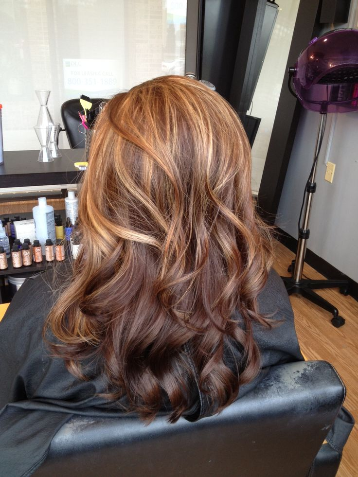Brazilian Blow out with color and curls! Highlights almost make an ombré effect... Beautiful!!!