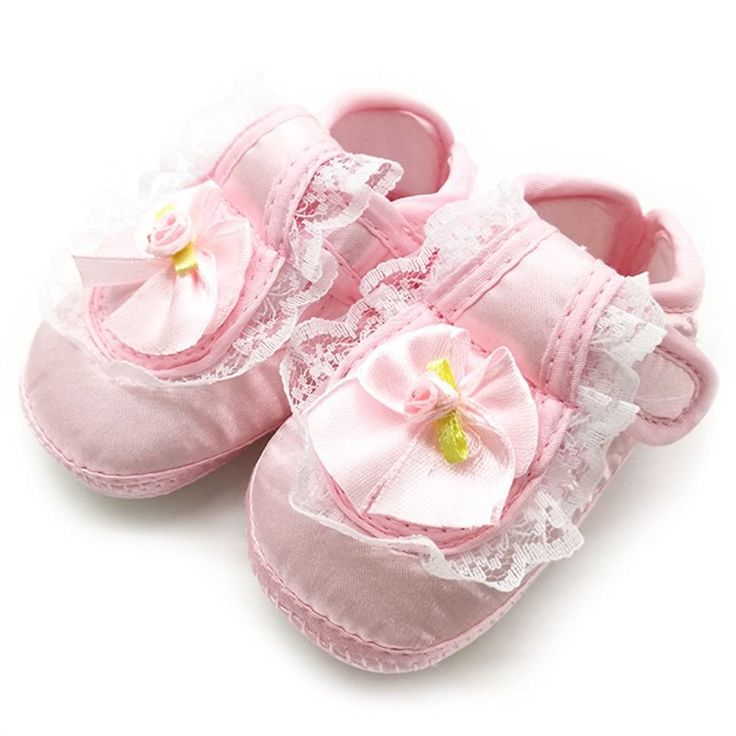 Amazon.com | BOBORA Baby Girls Lace Shoes Soft Sole Crib Sneakers 0-18M