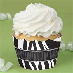 Zebra - 12 Birthday Party Cupcake Wrappers