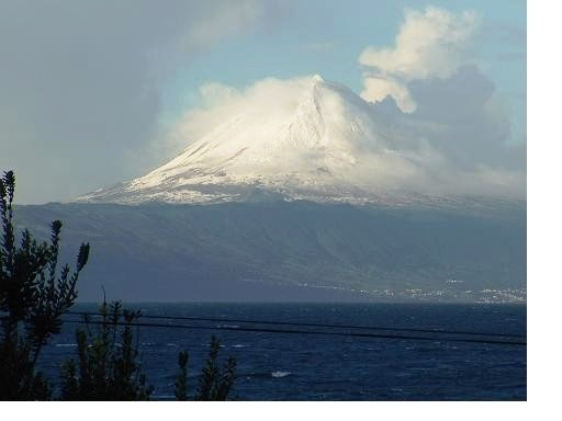 Pico island with its amazing 2,4 km high vulcano. the 3rd biggest one in the Atlantic ocean. Picture taken from São Jorge island.