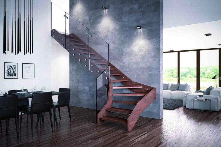 Visio by Rintal è resa particolare dall'unione tra una struttura in legno e la ringhiera in vetro che dà vita ad un modello di scala per interni dallo stile contemporaneo, adatto ad ogni tipo di ambiente, moderno o classico. Scoprite di più: http://www.consiglidicasa.com/joomla/per-la-casa/decorazione/637-rintal-bellissime-scale-di-design