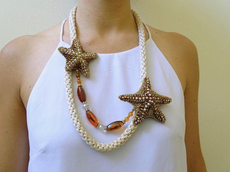 Collana Artigianale, Stelle Marine - Necklace HandMade, Starfishes di IririDesign su Etsy