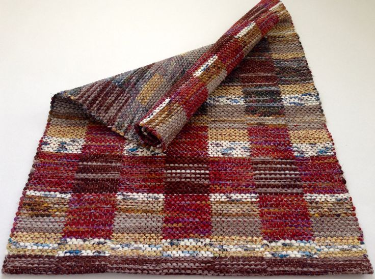 Courage Rag Rug - Hand Woven Colorful Patterned Rag Rug by WarpedforGood on Etsy