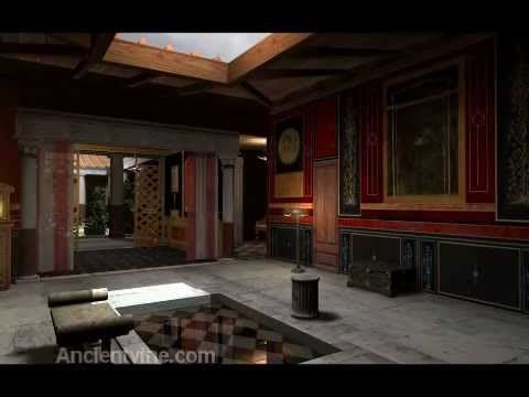 "A virtual Roman house much like Villa di Poppaea - This is a 3D reconstruction of a typical Roman home called a domus. The reconstruction, model and textures was created by Ancientvine. The animation and music created by Museum Victoria. This would be a typical roman domus of a ""well to do"" Roman family.  This video is copyrighted by Museum Victoria and Ancientvine.com"