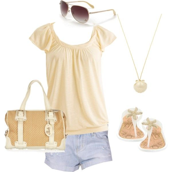 OutfitComfy Outfit Tom, Style Outfit, Summeroutfit, Fashion, Clothing, Beach Outfits, Cute Summer Outfits, Outfit Tom Yellow, Polyvore Outfit