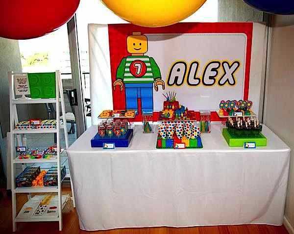 Lego Themed 7th Birthday Party
