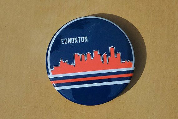 Edmonton City Skyline Button by SaavyInc on Etsy