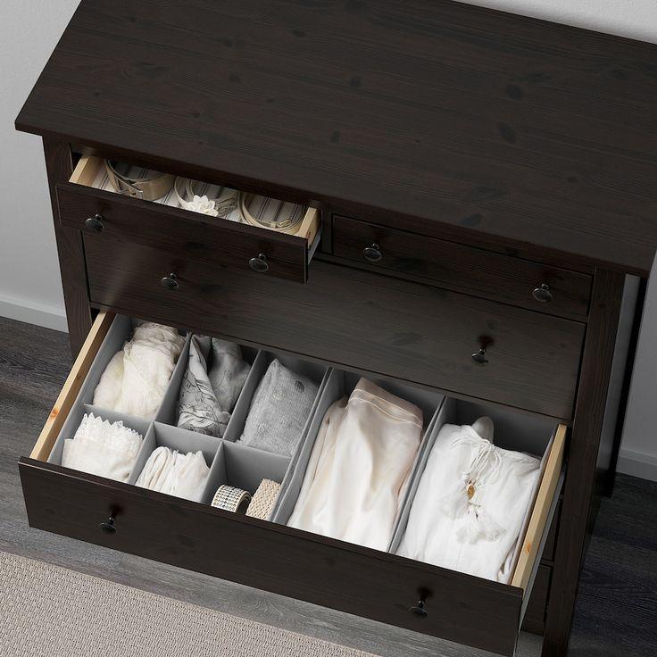Ikea Hemnes Kommode Schwarzbraun 2021