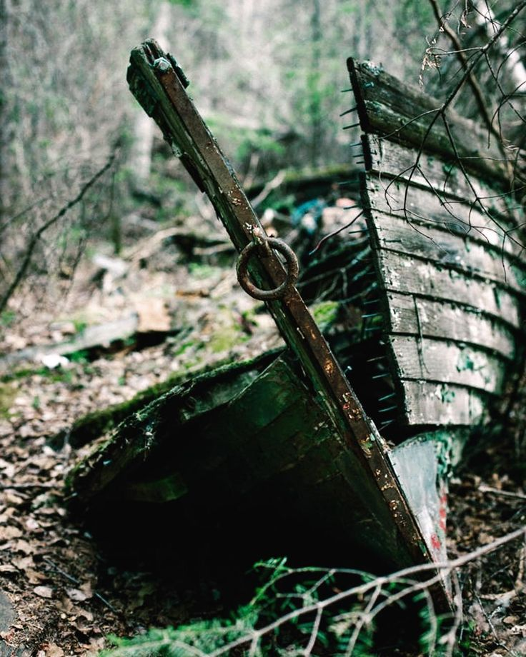 Dreaming of the sea   Into the Woods  Surprisingly the engine was somehow still intact at the rear of the boat. Remaining of a small fishing boat laying on the ground between the trees. In the ghost town of Burchell Lake mining site of the late 60'.  Ontario Canada   #canon5dmarkii  __________________________________________________  #fromthepast #old #abandoned #building #human #urban #history #anotherlife #wreck #boat #explorecanada #canada #nature #DiscoverON #ontario #ontariotravel…