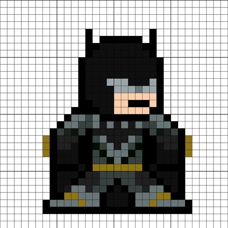 Batman (Tactical Suit) JL Perler Bead Pattern
