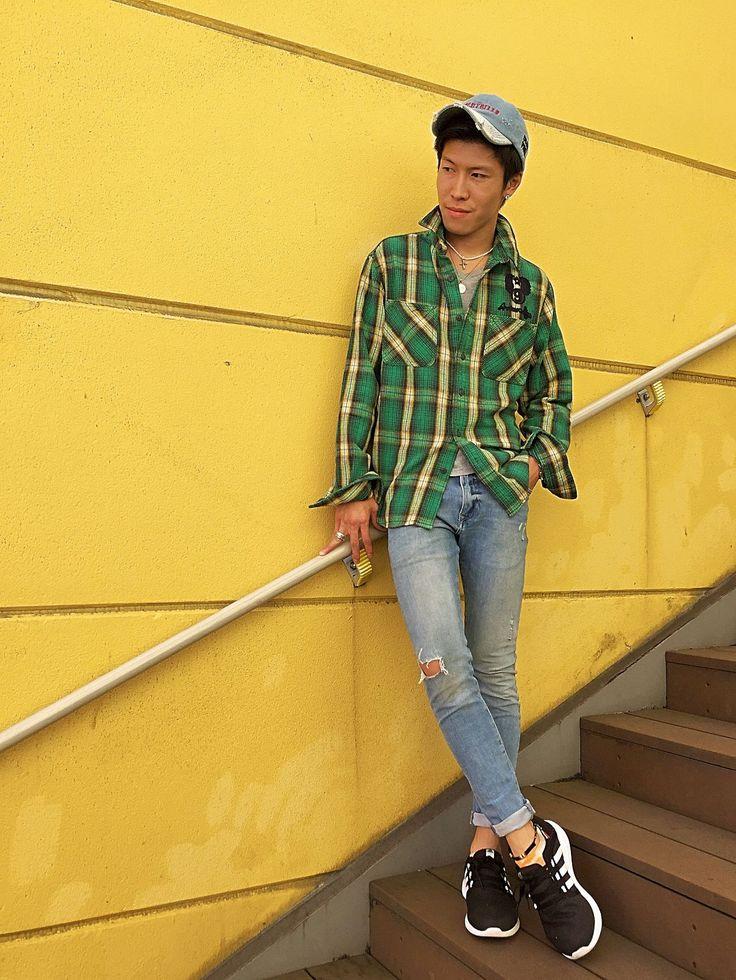 AVIREX川崎店/チェックシャツ 緑×デニムです!