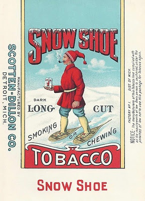 Vintage chewing tobacco label
