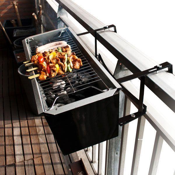 Barbacoa portátil de carbón con parrilla para balcón | Tecniac