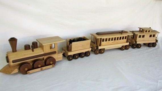 Wood Train by gbtrains on Etsy, $250.00