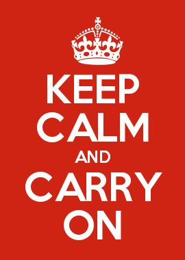 KEEP CALM AND CARRY ON BIFFING