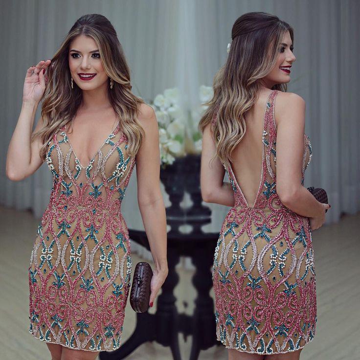"""Dia de festa!! Vestido @dress4youatelier deeeuso ❤️ • #lookdanoite…"