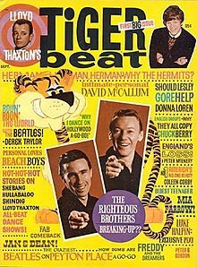 Very first issue of Tiger Beat Magazine - September 1965 - Teen idol gossip, movies, music and fashion