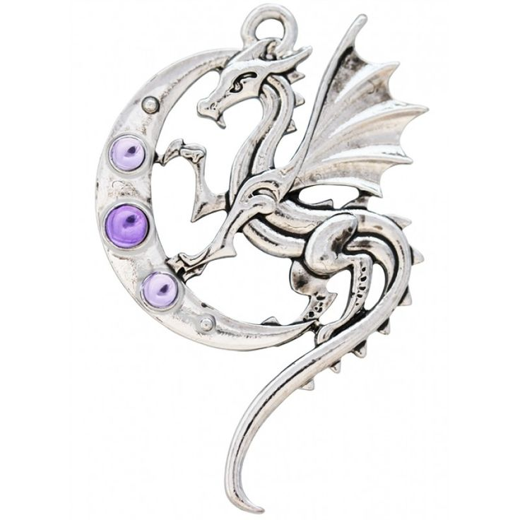 Luna Dragon Pendant ~ Strength On Life's Journey