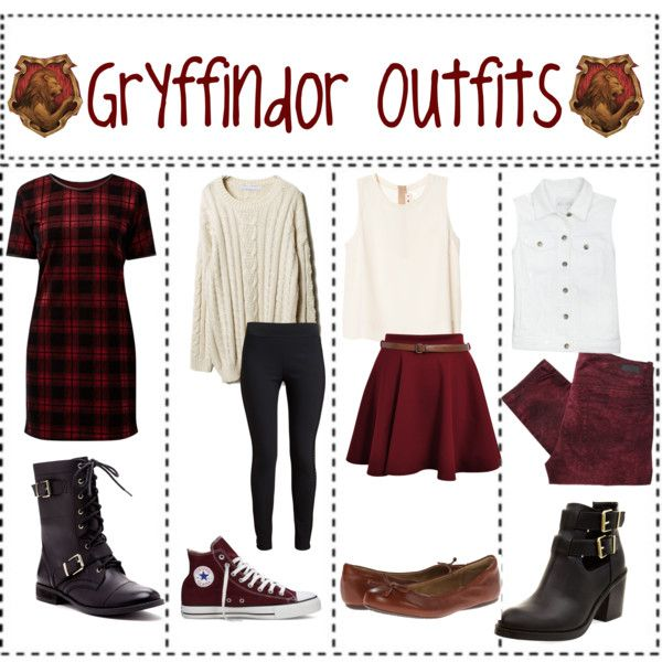 """Gryffindor Outfits"" by ameliaroseoswald on Polyvore"