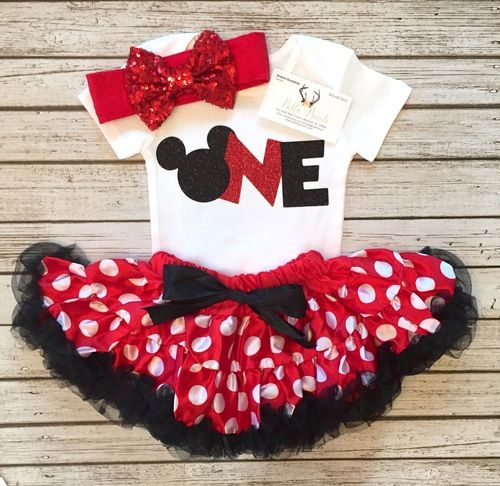 Minnie Mouse First Birthday Bodysuit Minnie Mouse Birthday Shirts