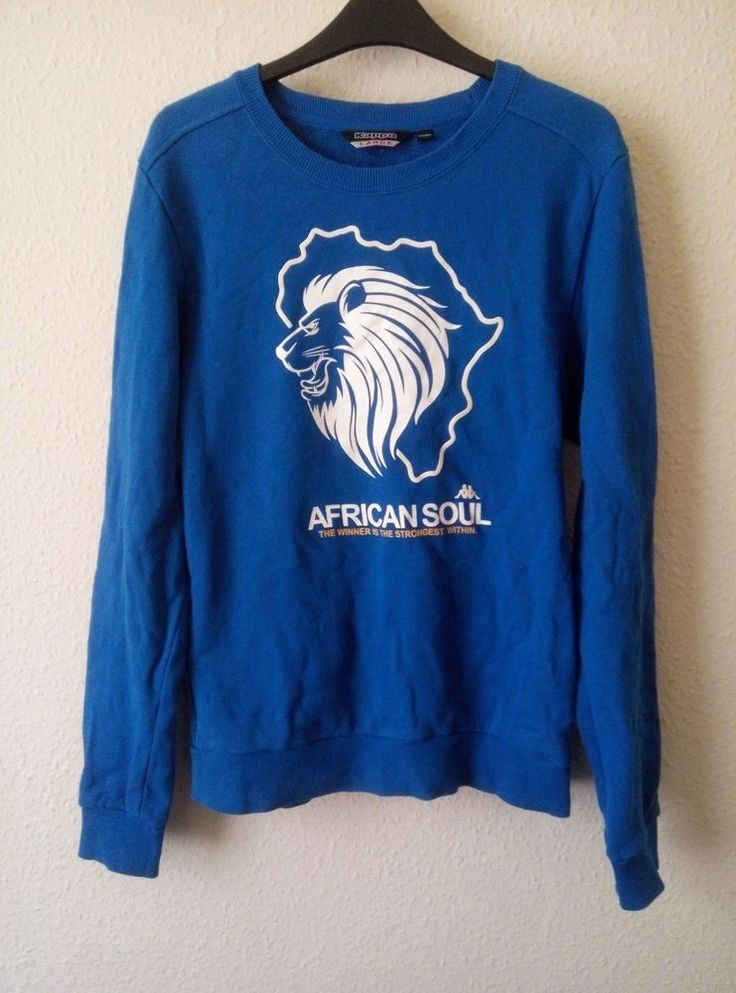 Kappa Jumper Fleece Sweater Jumper African Soul Lion Head Crew Neck Size L