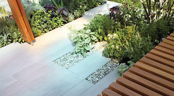 Linear Sandstone Paving Garden Design Decking Paving Pinterest Gardens Landscaping And