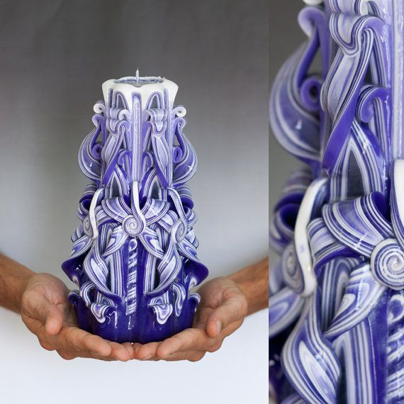 I love these carved candles! This shop on etsy has many more colors available.