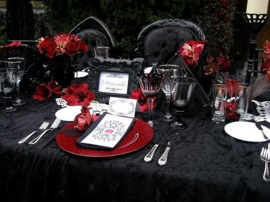 Superb Gothic Wedding Table Setting Check Us Out On Fb  Unique Intuitions  #uniqueintuitions #gothic