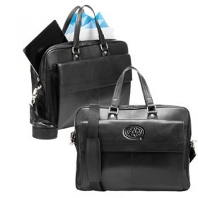 Promotional Products Ideas That Work: The dean - leather briefcase. Get yours at www.luscangroup.com