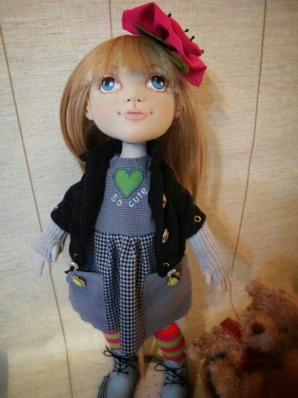Текстильная кукла  София от Елены Гиббонс.