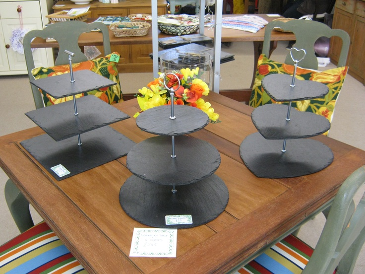Hand cut and made in Cornwall slate cake stands £25 each
