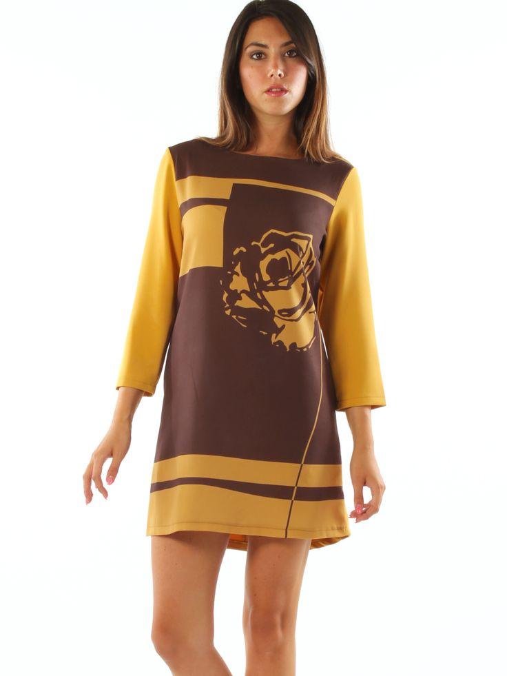 Floral patterned stretch jersey elegant short dress. Freesketch http://www.luanaromizi.com/en/dresses-woman/floral-patterned-stretch-jersey-elegant-short-dress.html #Floral #patterned #stretch #jersey #elegant #shortdress #freesketch