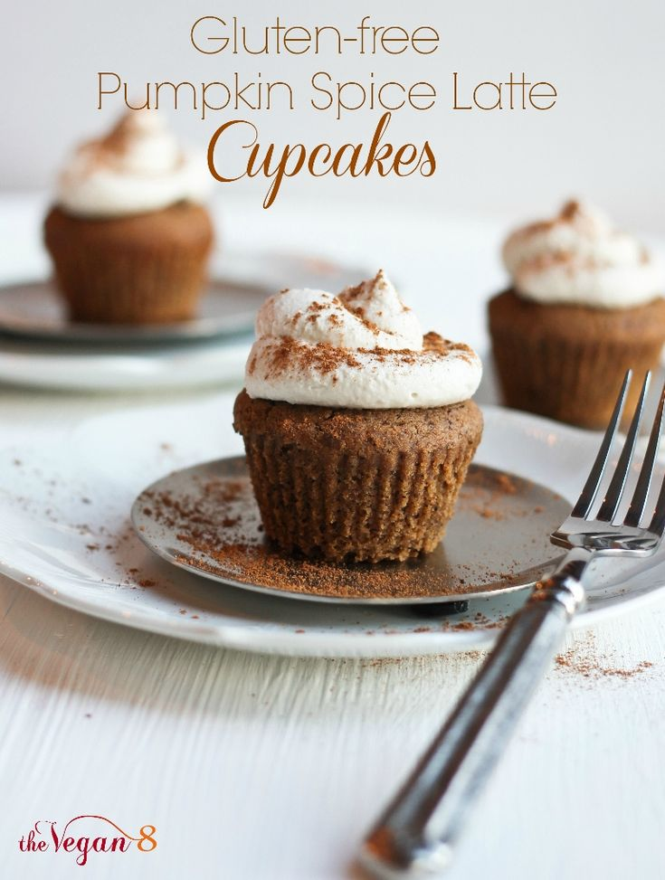 -free Pumpkin Spice Latte Cupcakes with the best fluffy Whipped Icing ...