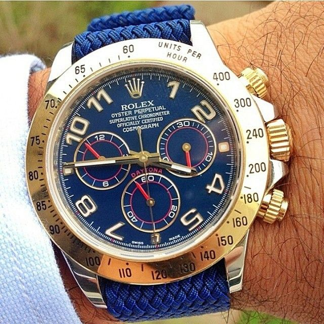 Rolex Daytona on a  blue perlon strap from @whatchsdotcom  by @eliasantoine | Your by watchanizer from Instagram http://ift.tt/1EPJ3Ni