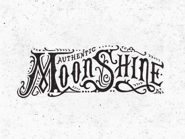 Moonshine - Flourish Worn Hand Rendered Type