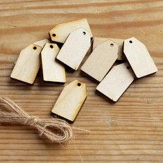 Mini Wooden Gift Tags