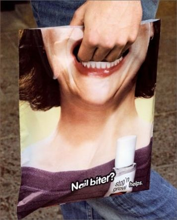 Creative bag ad